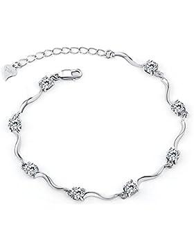 Damen-Armband mit Swarovski-Element, Silberkristall S925erSterlingsilber mit glänzender Zirkonia für Damen und...