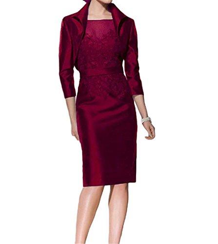 HWAN Damen Mantel Mutter der Braut Kleid Lace Kurze Abendkleid mit Jacke (Abendkleider Von Jovani)