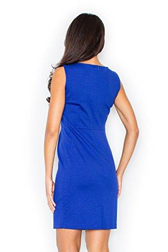 Robe de soirée classique moulante Figl Bleu