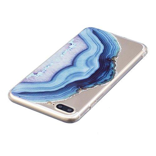 "iPhone 7 Plus (5,5 zoll) Hülle Case, Edaroo Niedlich Lustig Karikatur Tiere Corgi Muster iPhone 7 Plus 5,5"" Schutzhülle Hülle Case Cover Ultra-Transparente Felxible TPU Silikon Handyhülle Hülle mit An Marble #4"