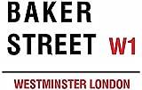 Baker Street W1 London Street Sign - Steel, 20 x 15cms
