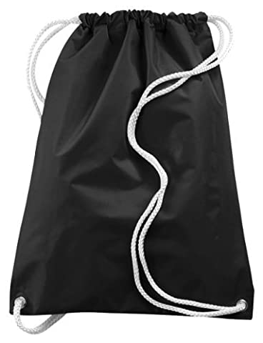 Augusta Drop Ship Large Drawstring Backpack - BLACK - OS by Augusta Sportswear