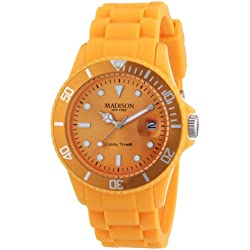 Madison New York Men's Quartz Watch U4167-22/2 with Plastic Strap