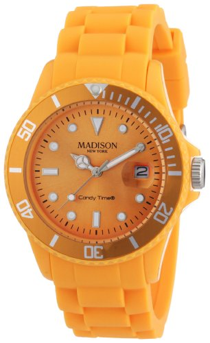 Pastell Orange Madison New York Candy Time Unisex ArmbanduhrOrange