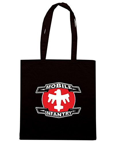 T-Shirtshock - Borsa Shopping TGAM0069 Starship Troopers - Mobile Infantry Nero