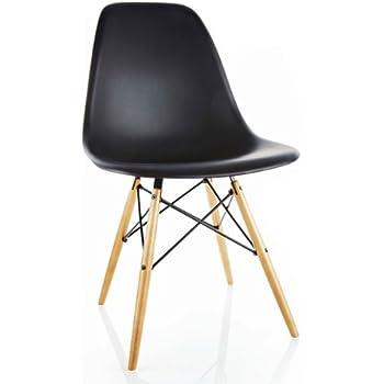vitra eames plastic side chair dsw untergestell ahorn gelblich sitzschale wei 440023000204. Black Bedroom Furniture Sets. Home Design Ideas