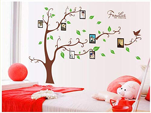 shshuiyue Removable Photo Frame Tree Wall Sticker Palm Tree Green Leaf 3D Photo Frame Wall Sticker Art Decals Wall Decal Mural On Furniture Bedroom TV Background Hallway Wallpaper