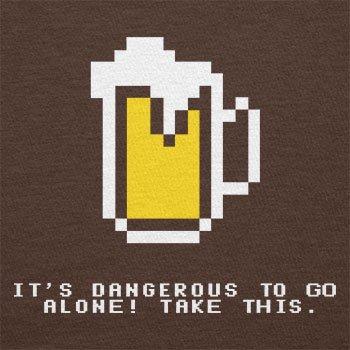 Texlab–Dangerous Beer–sacchetto di stoffa Marrone
