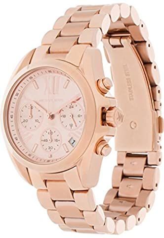 Michael Kors Damen-Armbanduhr Analog Quarz One Size, rosé, rosé