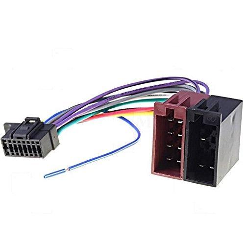 Cable adaptador ISO para radio de coche Sony (16 pines) CDX 1000, CDX 7100, CDX-G1000U 21.5 x 10 mm TechExpert