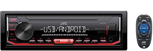 JVC KD-X152 200W Negro, Plata receptor multimedia para coche - Radio para coche (Negro, Plata, 1 DIN, 200 W, 4.1 canales, 50 W, 20-20000 Hz)