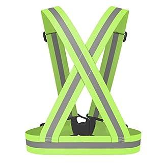 Chaleco reflectante Monos de noche Chaleco de seguridad Cinturón fluorescente Protección del tráfico Prevención de accidentes Alta elasticidad ajustable Unisex