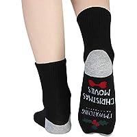 NCONCO 1 par de Calcetines Unisex de Navidad Calcetines de Algodón Novedad (Negro)