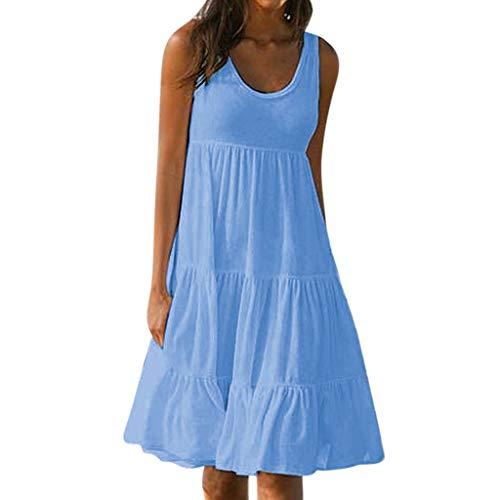 n Sommer blusen Damen Sommer Tops Damen Sommer Strandkleid Damen Rockabilly Kleider ()