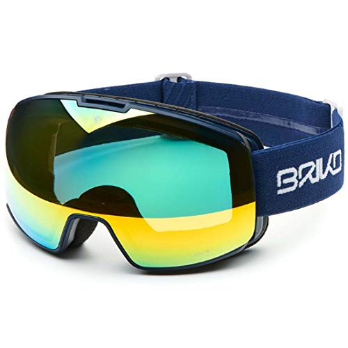 Briko Nyira 7.6 Skibrille, Unisex Erwachsene Einheitsgröße Matt, Dunkelblau
