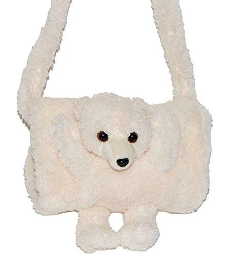 Unbekannt weicher Muff als 3-D Eisbär / Teddy - mit extra Tasche - Kinder Kindermuff - für warme Hände - wie Handschuh / Handschuhe - Tiere - zum Umhängen - für Mädchen..