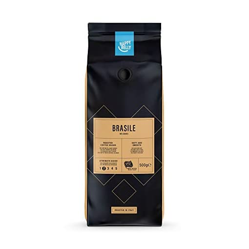 Happy Belly Coffee Beans Brasile, 2 x 500g