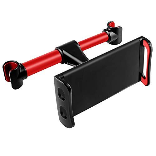 Acslam Auto Kopfstütze Halterung, Tablet Halterung Auto Rücksitz Halter Universal Handyhalterung für iPad Air Mini 2 3 4, New iPad Pro 9.7, 10.5, Handy und Tablet mit 4~11 Zoll (Rot)