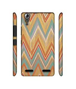 NattyCase Colorfull Zig-Zag Lines Art Design 3D Printed Hard Back Case Cover for Lenovo A6000 / A6000 Plus