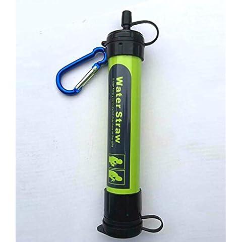 KidsHobby® Personal Filtro acqua portatile leggero per campeggio, trekking, zaino in spalla, Prepping ed emergenze (verde)