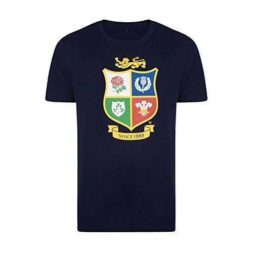New Herren Nz OFFIZIELLER Wales Lions Tour 2017rot Marineblau Rugby Football T-Shirt Gr. S, navy (Shirt Lions Rugby Rot)