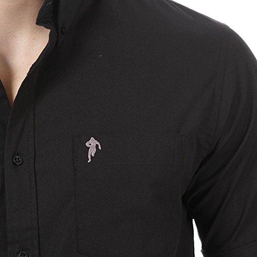 Ruckfield Herren Freizeit-Hemd Schwarz