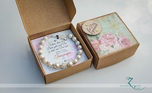 Trauzeugin Geschenk in Schachtel,Armband,Hochzeit