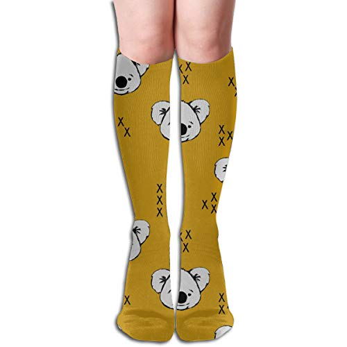 Women's Fancy Design Stocking Koala Mayan Multi Colorful Patterned Knee High Socks 19.6Inchs