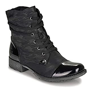 Rieker 70822-02 Ankle Boots/Boots Women Black Mid Boots