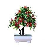 Künstliche Pflanzen Blumen Kunstpflanzen im Topf Kunststoff Büsche Topfblumen Künstliche Pflanzen für Küche Garten Hause Wohnzimmer Deko7 x 24 x13.5 cm