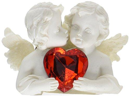 Furniture Creations Two in Love Cherub Angel Red Crystal Heart Figurine