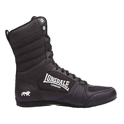Lonsdale Anwärter-hohe Boxen-Stiefel - Schwarz-weiß UK 11 - EU 46 - Weiß Schuhe Boxing