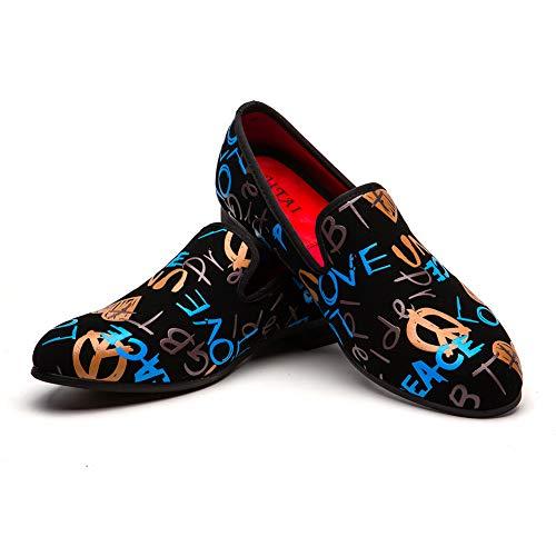 JITAI Männer Lindford Moc Toe Bit Slip-On Penny Loafer Party Schuhe...