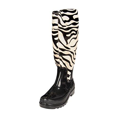 Unbekannt Damen-Stiefel Zebra, Gr. 42 - (MaluZebra Weiß Gr.42)