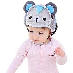 AOLVO Casco Protector de Cabeza de Bebé, Gorrito de Seguridad Antigolpes con Arnés Ajustable para Aprender Caminar y Gatear Anticolisión