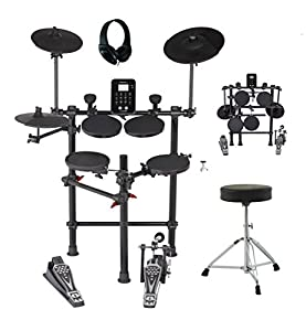 Medeli Digital Drum Kit With Headphones Stool Sticks & Stealth Bass Drum Pedal DD620BX