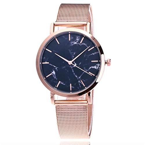 Kinlene Damen Urhen Beiläufige Quarz-Edelstahl-Band-Marmorband-Uhr-analoge Armbanduhr Uhren