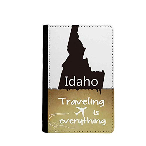 Idaho The United States of America Map Traveling quato Passport Holder Travel Wallet Cover Case Card Purse