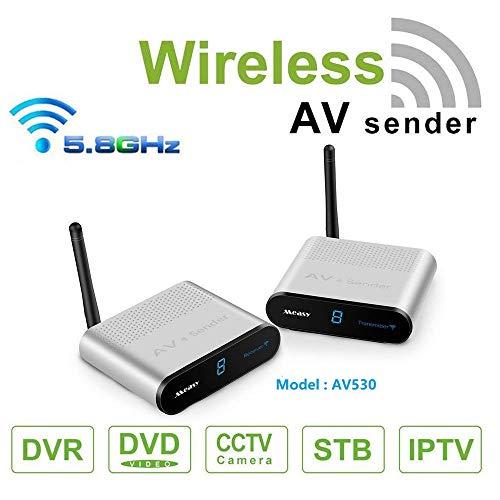MEASY AV530 5.8GHZ Sistema audio e video per trasmettitori e ricevitori AV wireless a 8 canali per DVD/DVR/IPTV/CCTV Camera/TV fino a 300m / 1000ft