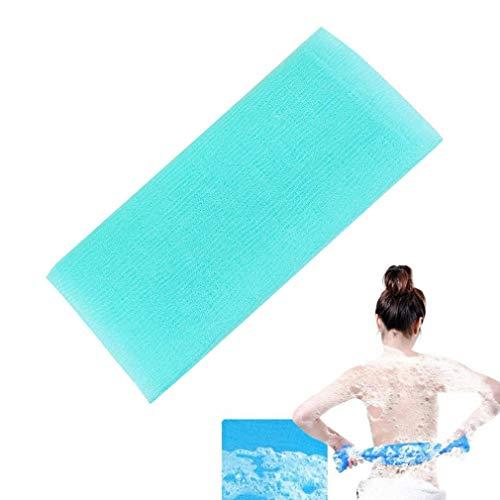 Onsinic 1Pcs Blau Badetuch Badeschwamm Seife Duschgel Foams Maker Waschlappen Körperreinigung Mesh Skin Häutchen Fettentferner Dusche Nylon Mesh (Mesh-waschlappen)