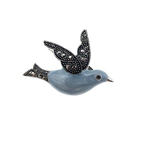 vintasion Emaille Vogel Brosche Pin für Frauen (Pin Vogel Brosche)
