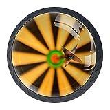 EZIOLY - Pomelli decorativi per armadi freccette, freccette, bersaglio, occhio, per mobili da cucina, armadio, cassetti, cassettiere, 4 pezzi