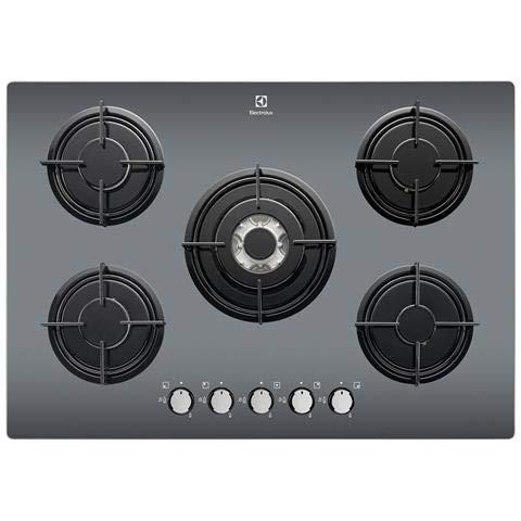 Electrolux – Plan cuisson Egg 7525 m à gaz 5 feux gaz noir miroir