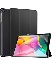 Robustrion Smart Trifold Hard Back Flip Stand Case for Samsung Tab A 10.1 Back Cover T510/T515 10.1 inch 2019 - Black