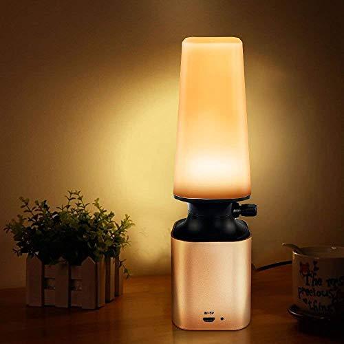 Powcan Luz de noche retro LED, Lámpara de Mesa, Regulable Lámpara de Noche de Atmósfera, Lámpara...