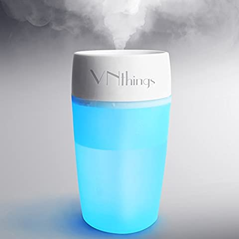 VNthings USB Mist Humidifier for home office hotel car,Whisper-quiet operation Diffuser with night light ,Automatic Shut-off