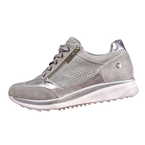 Zapatillas de Mujer Deportivas Plataforma Cuña Verano 2020 PAOLIAN Zapatillas Mujer Running Casual...