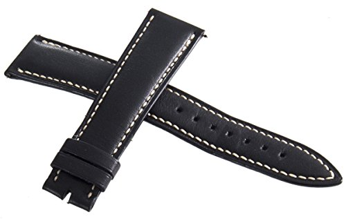 Franck Muller Geneve bianco punti neri in pelle Watch Band strap 19 mm