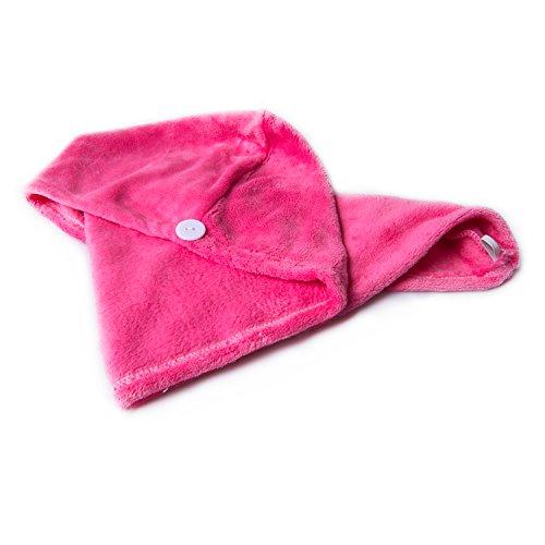 Trockene Haarkappe Duschkappen Turban Saugfähig Weiche Tuch (Rose)