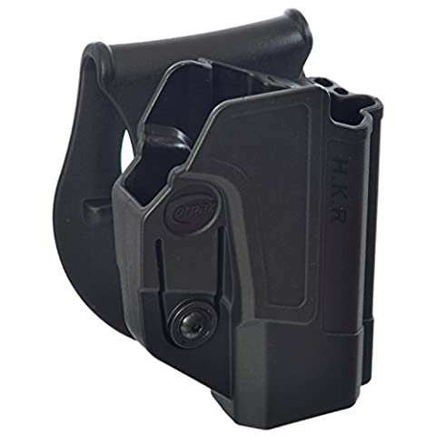 ORPAZ Defense Active retention ROTO rotation tactical paddle polymer holster with tention ajustment for Heckler & Koch H&K USP 45, H&K USP 9mm and H&K USP 45 (Full Size Only)